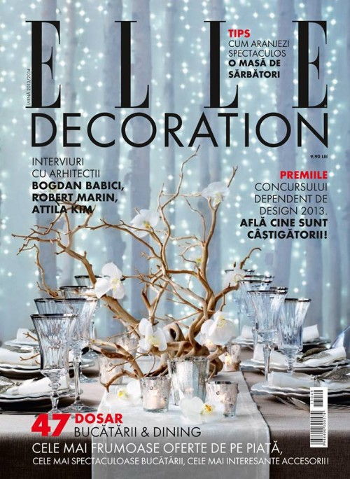 Elle Decoration, iarna 13-14, coperta