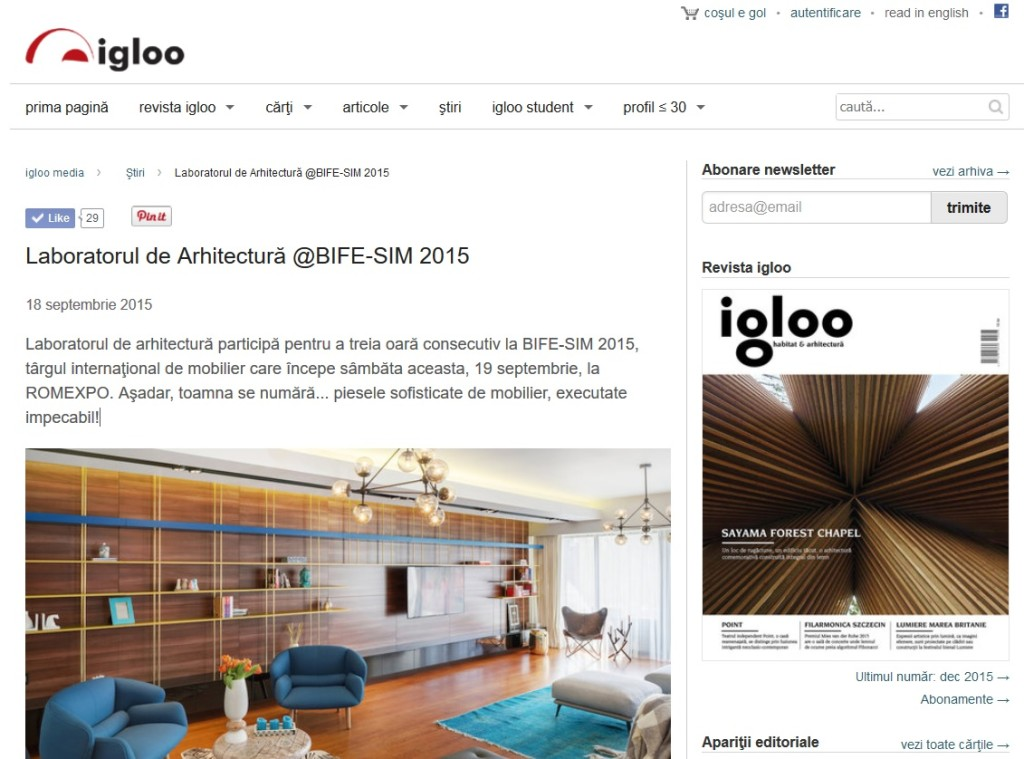 Igloo BIFE 2015
