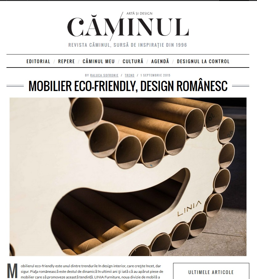 Mobilier eco-friendly
